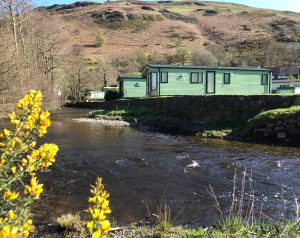 Minafon caravans situated along the river bank